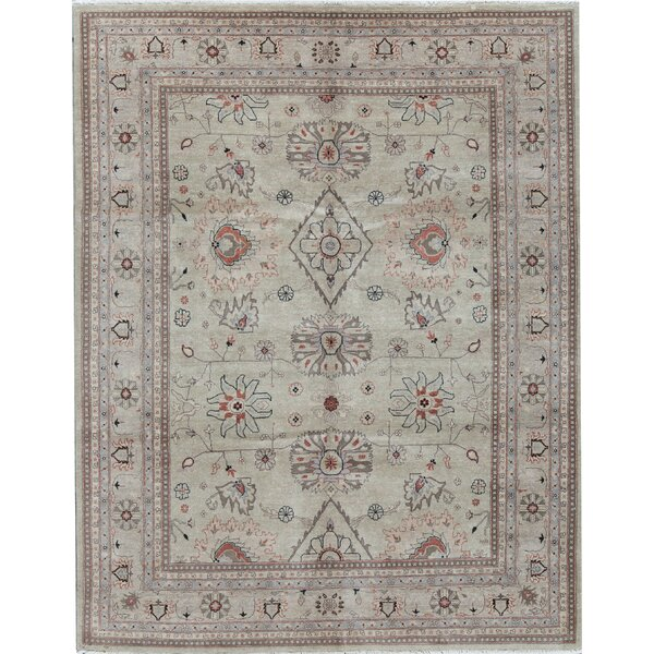 Cornwall Oriental Hand-Knotted 8.1' x 10.2' Wool Camel/Black Area Rug
