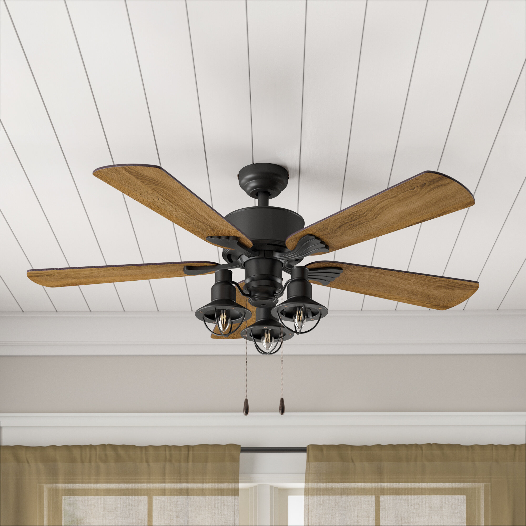 Birch Lane Heritage 52 5 Blade Standard Ceiling Fan With Pull Chain And Light Kit Included Reviews Wayfair
