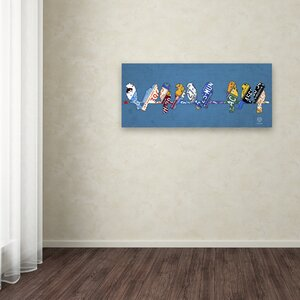 Birds on a Wire by Design Turnpike Graphic Art on Wrapped Canvas by Latitude Run