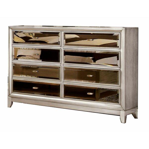 Schreck Wooden 8 Drawer Double Dresser by Everly Quinn