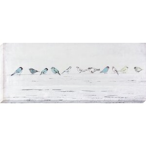 Birds in a Line Painting on Wrapped Canvas by August Grove