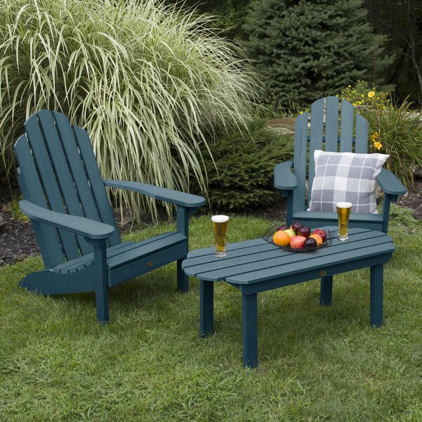 Highpoint Classic Plastic Adirondack Chair with Table by Alcott Hill Alcott Hill