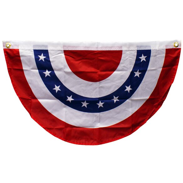 USA Bunting Pleated Flag by Penn Distributing