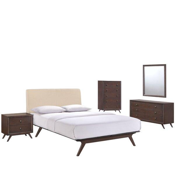 Modesto Queen Platform 5 Piece Bedroom Set by Langley Street