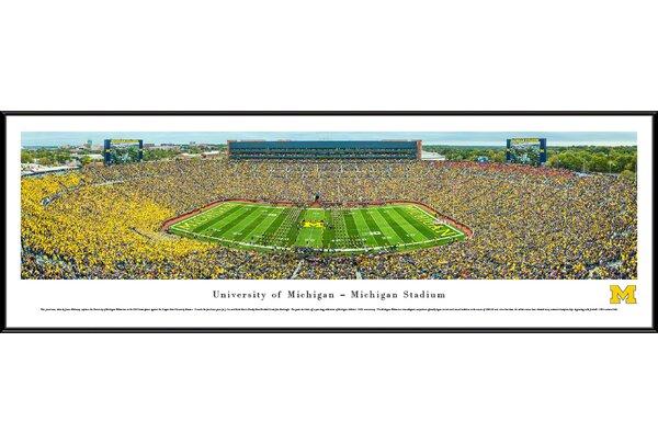 NCAA Michigan, University of - Football - 50 Yard Line by James Blakeway Framed Photographic Print by Blakeway Worldwide Panoramas, Inc