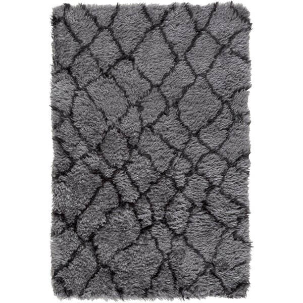 Rechanoi Gray/Black Area Rug by Trent Austin Design