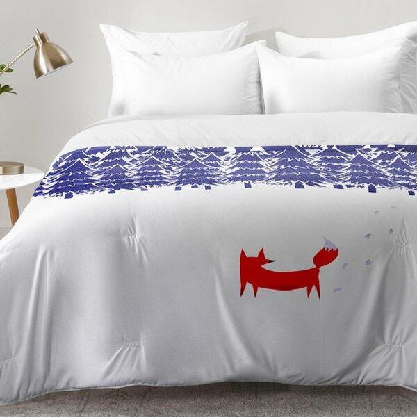 Alone In The Forest Comforter Set