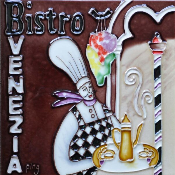 Bistro Venezia Tile Wall Decor by Continental Art Center