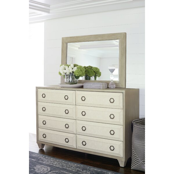 Santa Barbara 8 Drawer Double Dresser with Mirror by Bernhardt