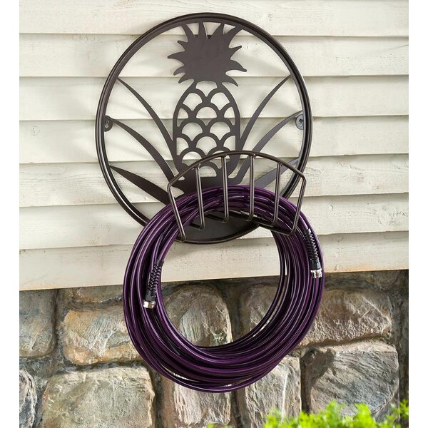 Pineapple Metal Wall Mounted Hose Holder by Plow & Hearth