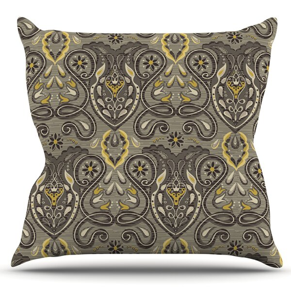 Vintage Damask by Suzie Tremel Outdoor Throw Pillow by East Urban Home