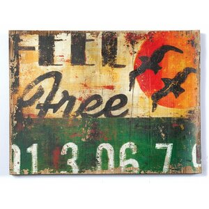 'Feel Free' Graphic Art Print on Wood by Williston Forge