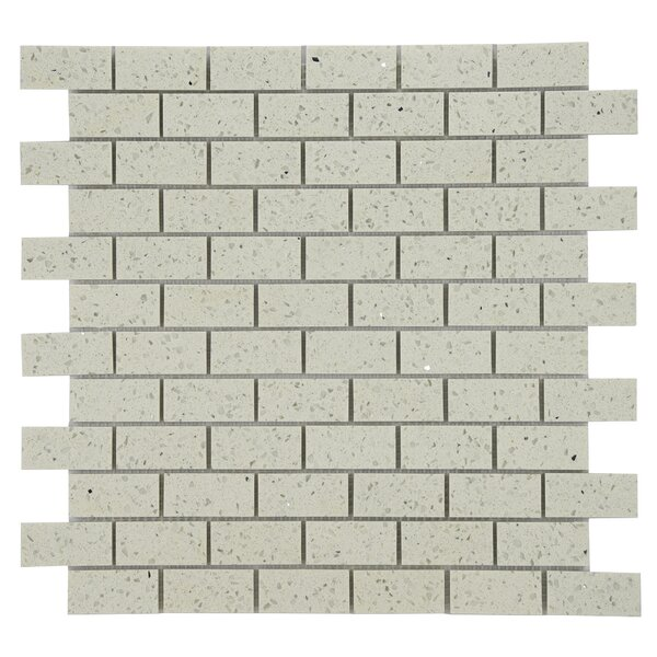 Quartz Engineered Stone Tile in White by Byzantin Mosaic