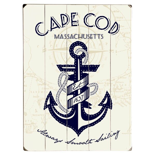 Cape Cod Anchor Graphic Art Print Multi-Piece Image on Wood by Artehouse LLC
