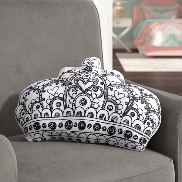 Darin Crown Decorative Throw Pillow by Viv + Rae