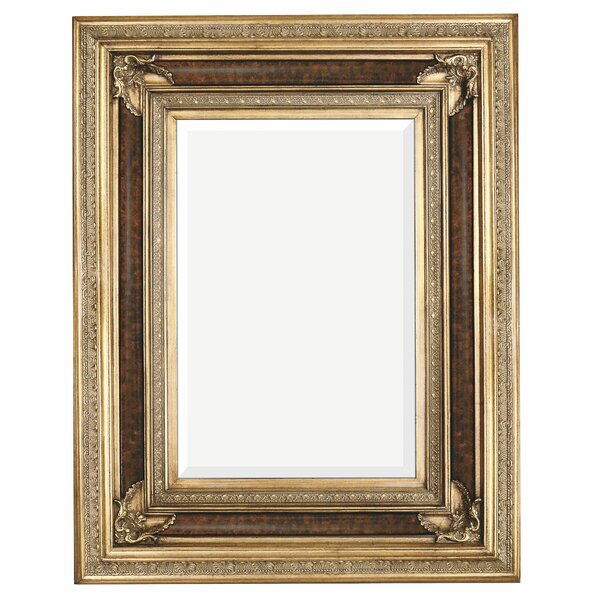 Rectangular Antique Wood Framed Traditional Glass Wall Mirror by Majestic Mirror