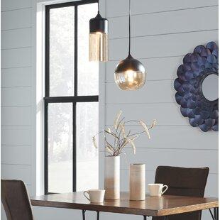 Great Price Bingen Glass 1-Light Globe Pendant By Wrought Studio