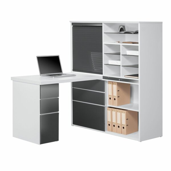 schreibtische mit stauraum. Black Bedroom Furniture Sets. Home Design Ideas