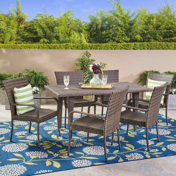 Efird 7 Piece Dining Set by Highland Dunes