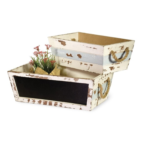 2-Piece Plywood Planter Box Set by Boston International
