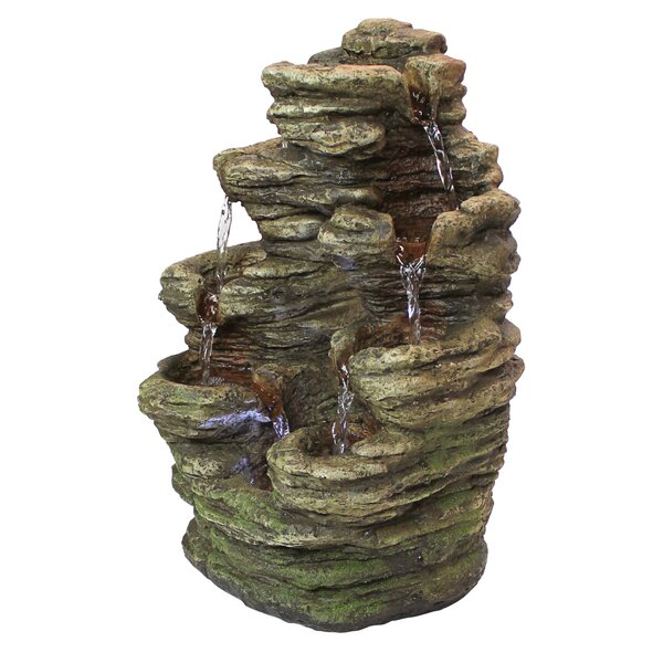 ResinIlluminated Garden Fountain with LED Light by Wildon Home ®