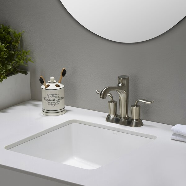 Elavo Ceramic Square Undermount Bathroom Sink with Overflow by Kraus