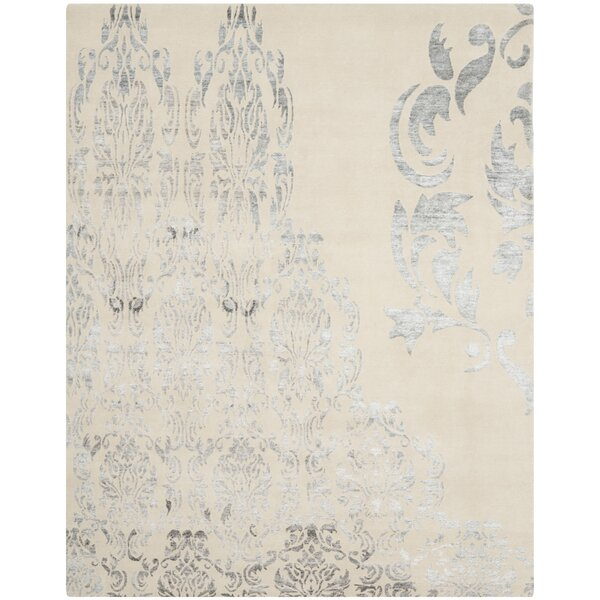 Marston Hand-Knotted Beige Area Rug