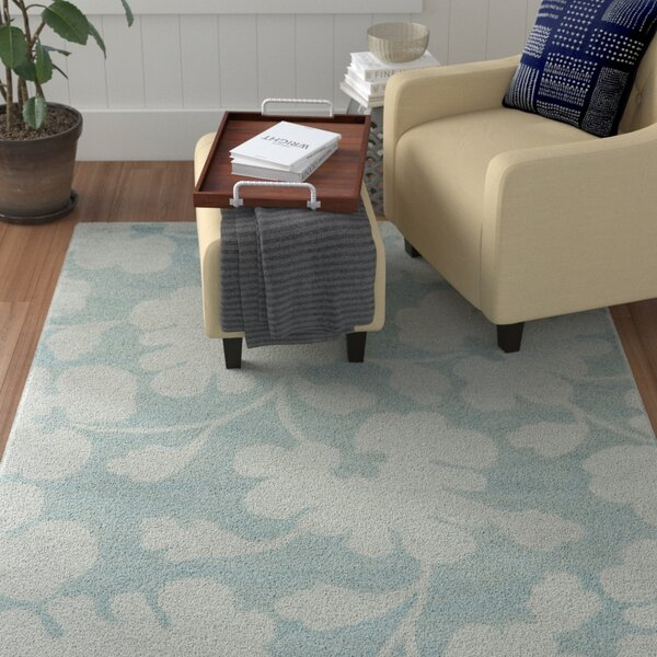 Armstrong Hand-Tufted Light Blue / Silver Area Rug by Winston Porter