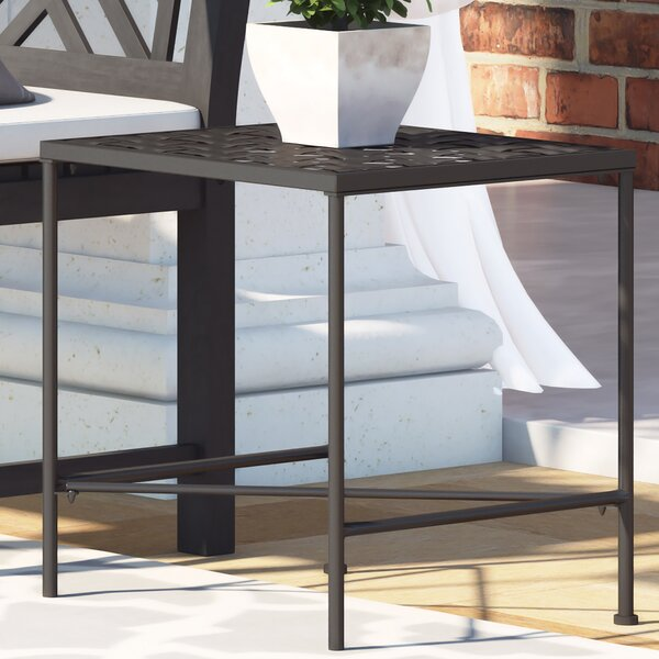 Hanselman Iron Side Table by Alcott Hill