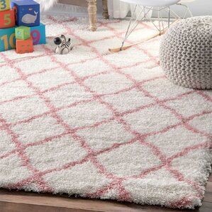 Kellie Hand Tufted Baby Pink Area Rug