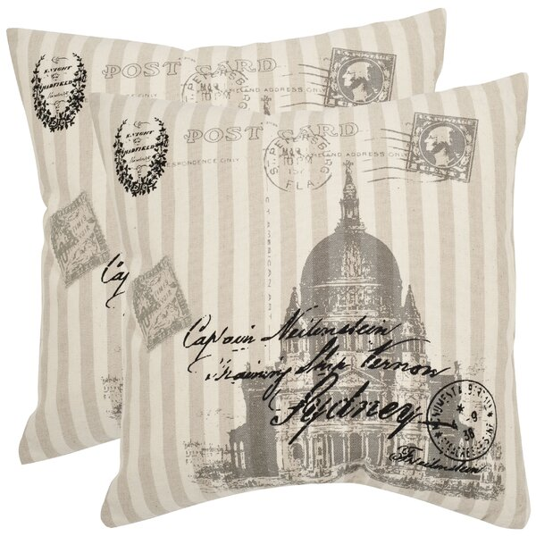 Lucas Ramie Cotton Throw Pillow (Set of 2) by Safavieh
