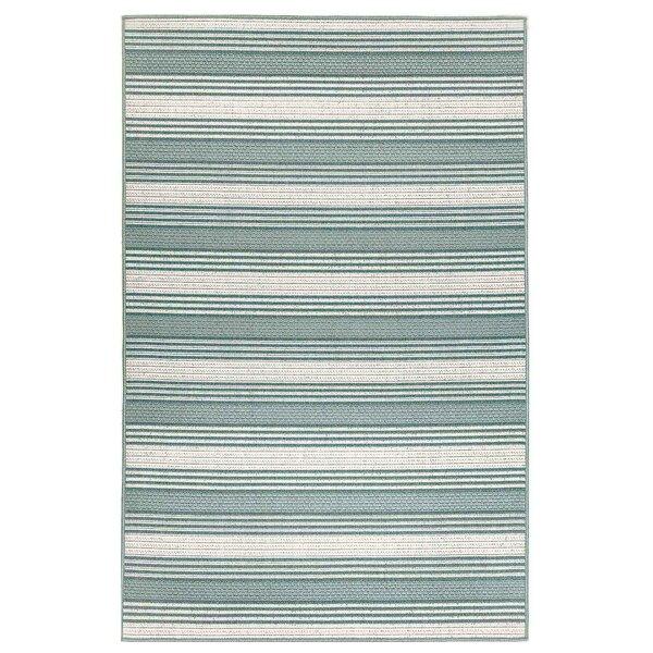Ricki Stripe Blue/White Indoor/Outdoor Area Rug by Highland Dunes