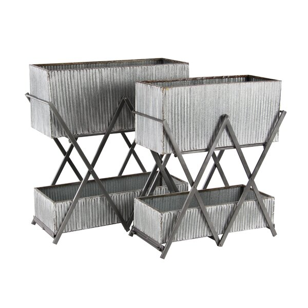 Kyte Modern 2-Piece Metal Vertical Garden Set (Set of 2) by Williston Forge