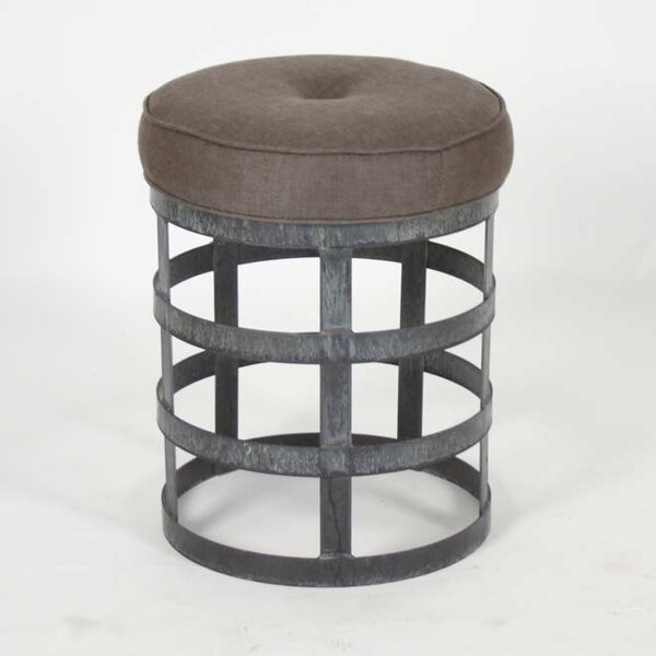 Recycled Metal Round Stool by Zentique