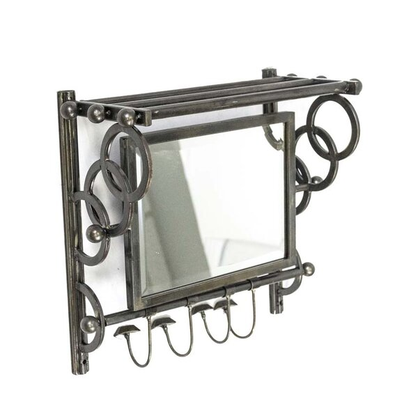 Wall Organizer Accent Mirror by Sagebrook Home