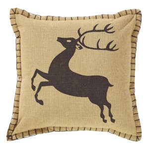 Prancer 100% Cotton Throw Pillow (Set of 2)