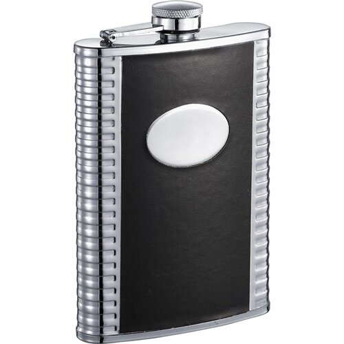 Tux Deux Leatherette Stainless Steel Hip Flask by Visol Products