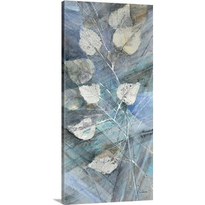 Silver Leaves I by Albena Hristova Graphic Art on Wrapped Canvas by Great Big Canvas