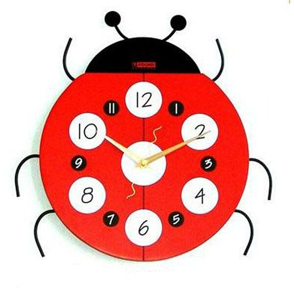 Ladybug Wall Clock by Creative Motion