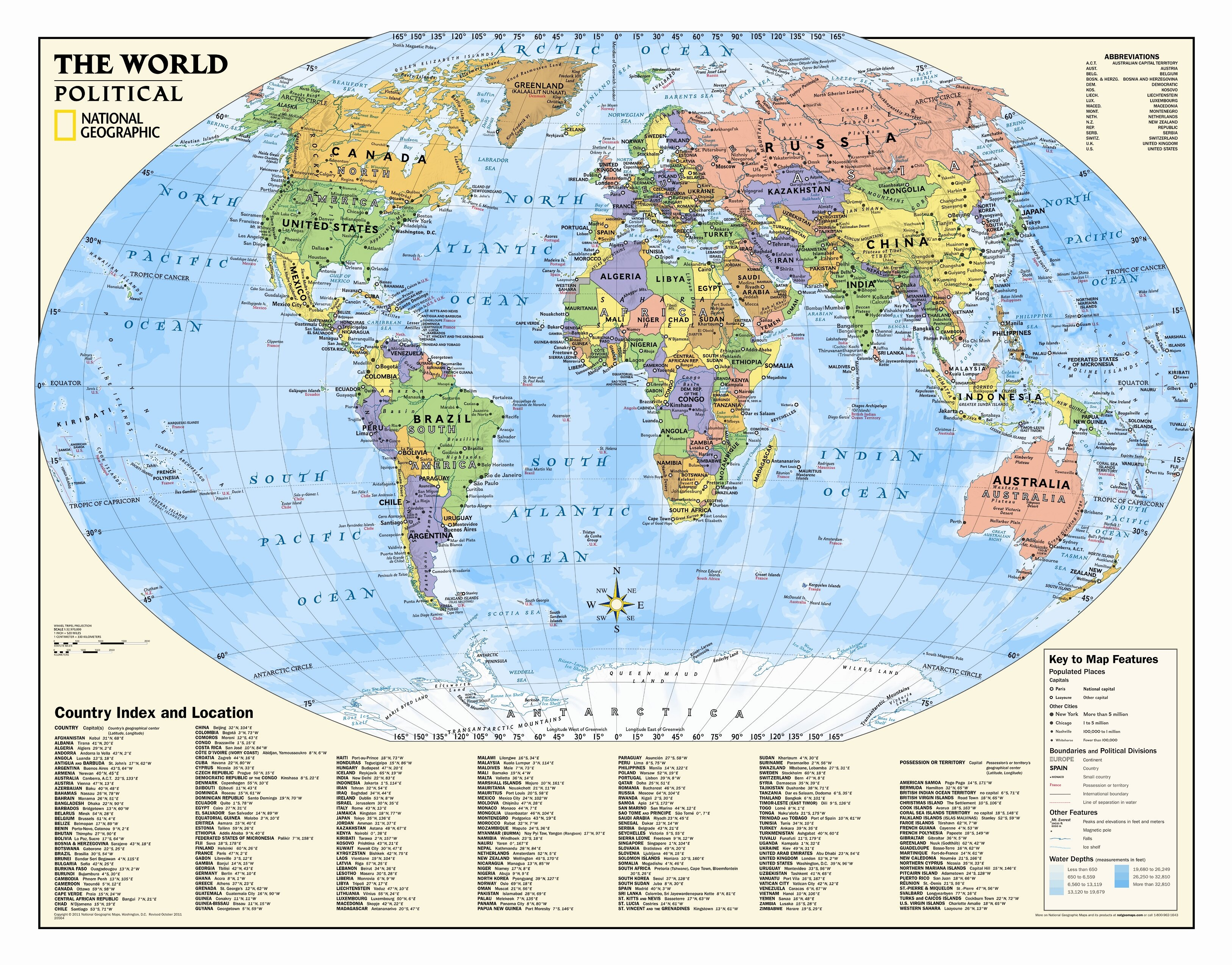 Polictical World Map.National Geographic Maps Kids Political World Wall Map Grades 4 12