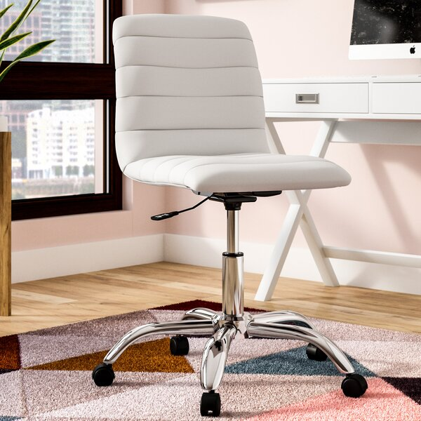 Berends Leather Armless Office Chair by Ebern Designs