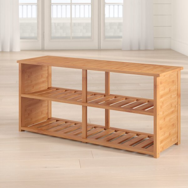 10-Pair Bamboo Shoe Storage Bench By Beachcrest Home New