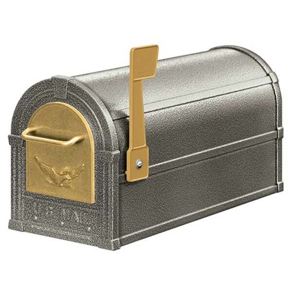 Eagle Aluminum Post Mounted Mailbox by YardCraft