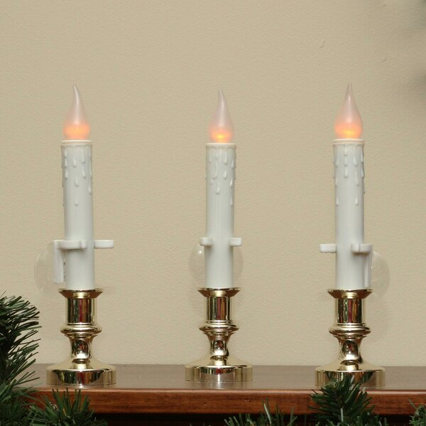 Flickering Window Christmas Candle Lamp (Set of 3) by The Holiday Aisle