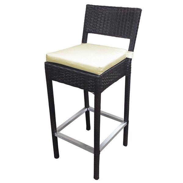 Preston 28 Patio Bar Stool with Cushion (Set of 4) by Vandue Corporation