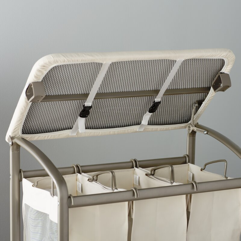 Attractive Laundry Sorter Hamper With Folding Table
