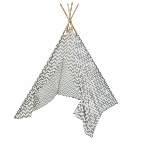 Katheryn Chevron Kids Play Teepee with Carrying Ba