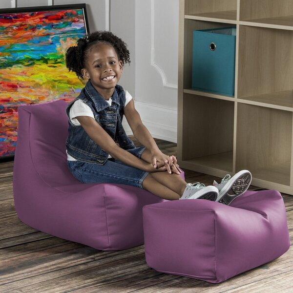 Kids Chair and Ottoman by Zoomie Kids