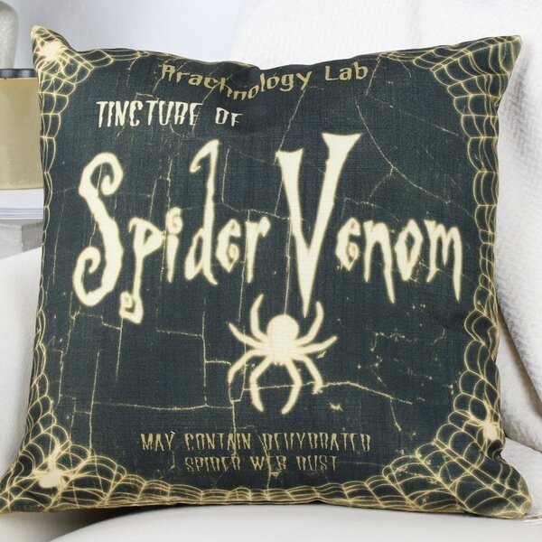 Spider Venom Throw Pillow by One Bella Casa