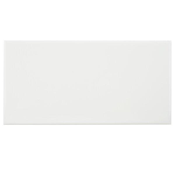 Prospect 3 x 6 Ceramic Subway Tile in Glazed White by EliteTile